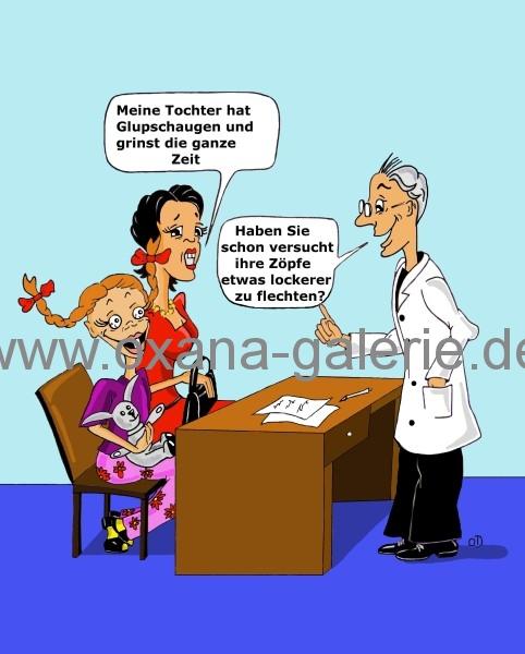 oxana-galerie_de_Karikatur_Besuch_beim_Arzt