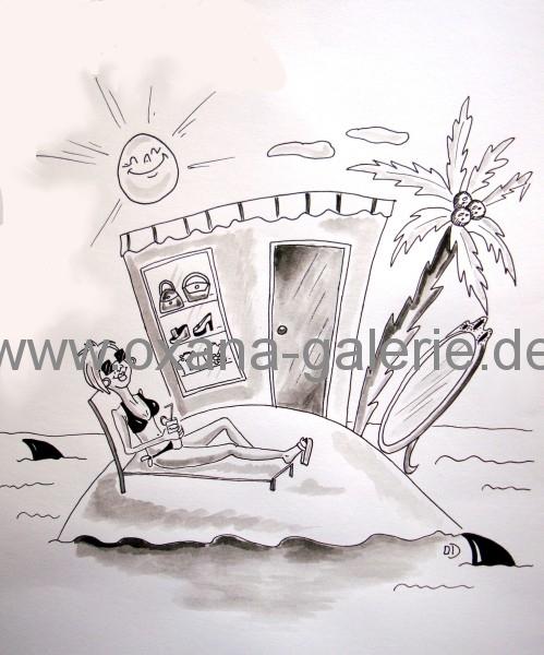 oxana-galerie_de_Karikatur_Einsame_Insel_fuer_Frauen