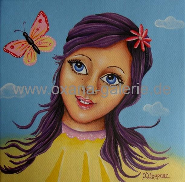Oxana-Galerie.de Mädchen mit Schmetterlingen